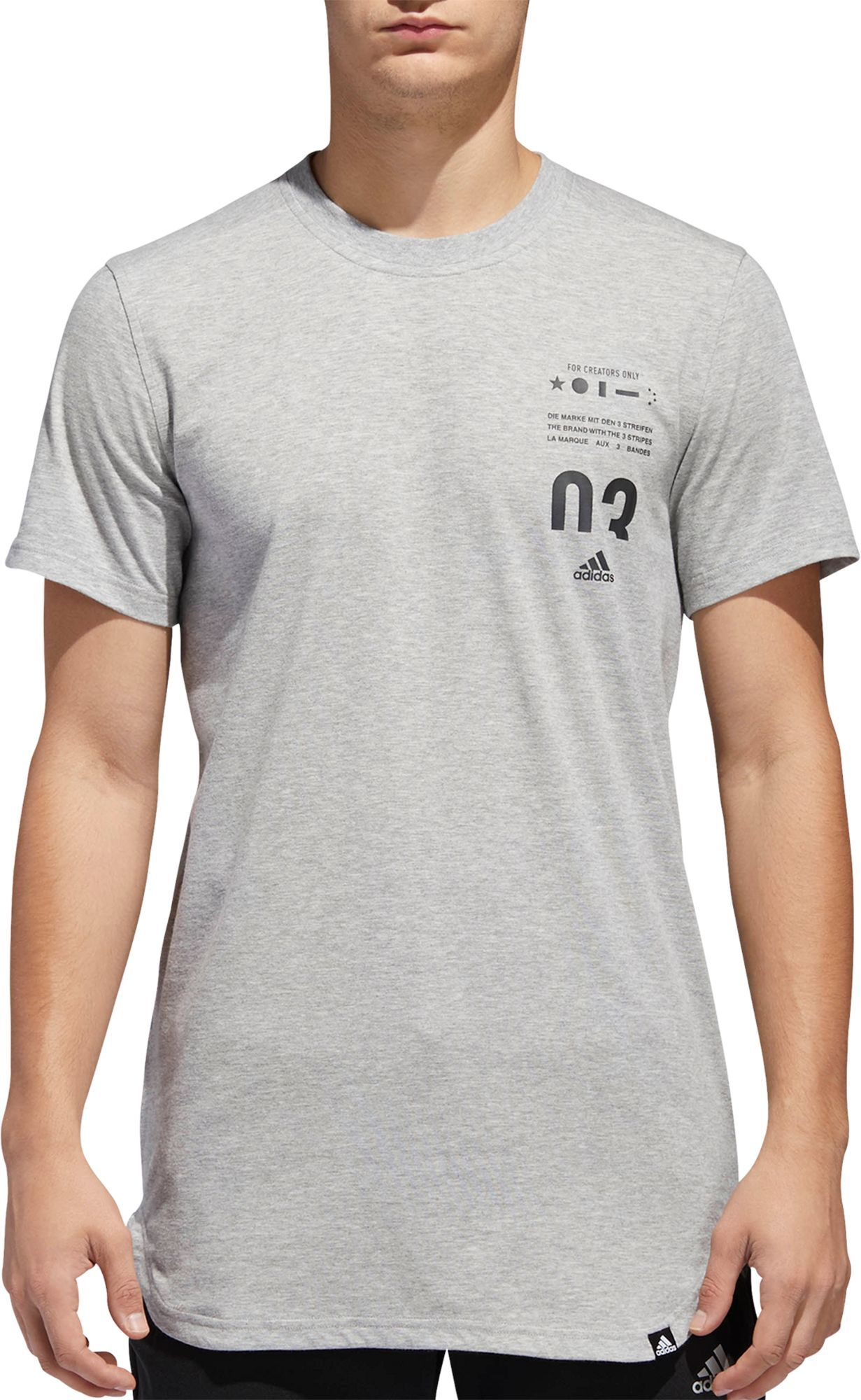 adidas Men s Essentials Printed Scoop Graphic T-Shirt  d0b31f85534