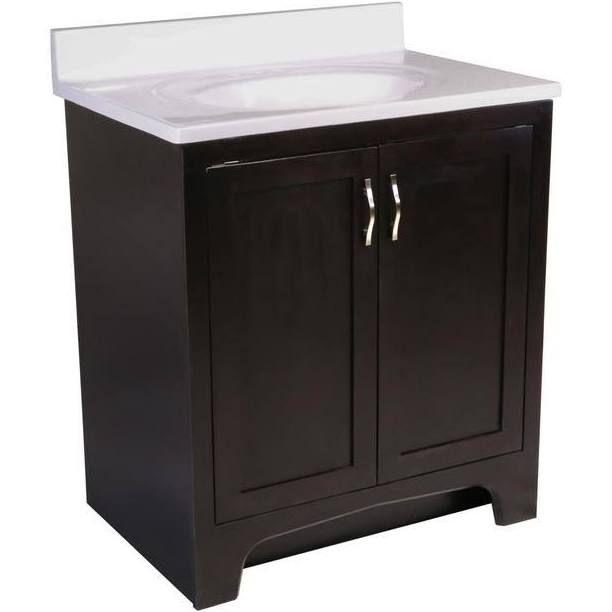 single sink 30 inch bathroom vanities intergrated sink ...