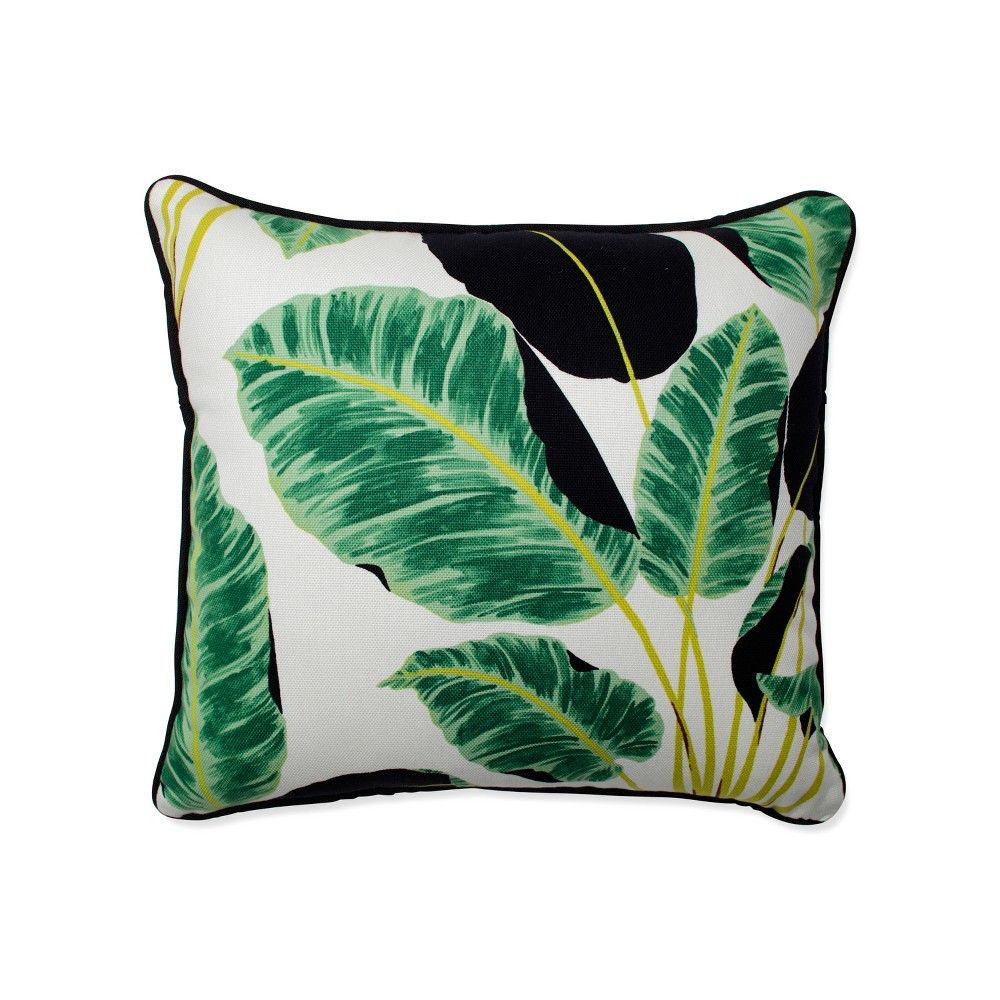 Jungle silhouette throw pillow
