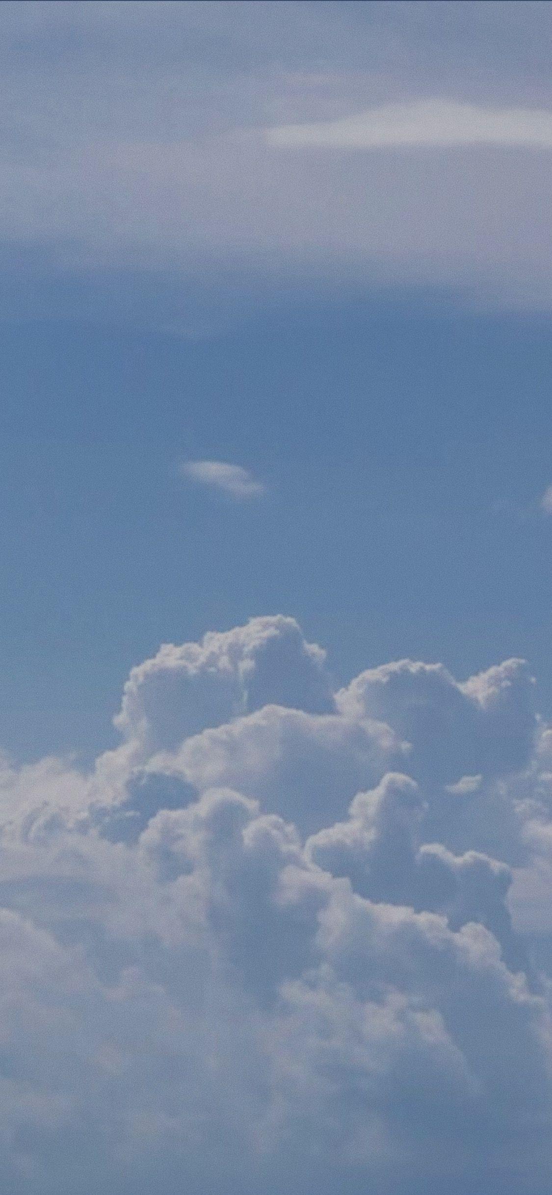 Clouds Aesthetic Pastel Blue Summer Vibes Ocean Cloud Cloudy Di 2020 Wallpaper Ponsel