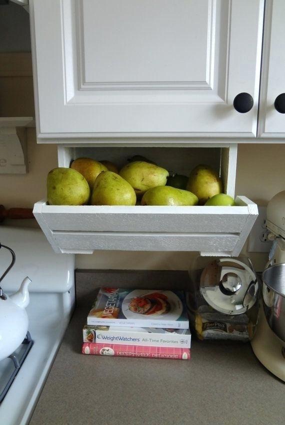 Under Cabinet Bread Storage Mount Box Drawer Saves Counter ...