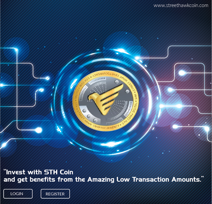 Invest With Sth Coin And Get Benefits On Low Transactions For More Details Visit Http Www Streethawkcoin Com Sthcoin T Investing Digital Coin Blockchain