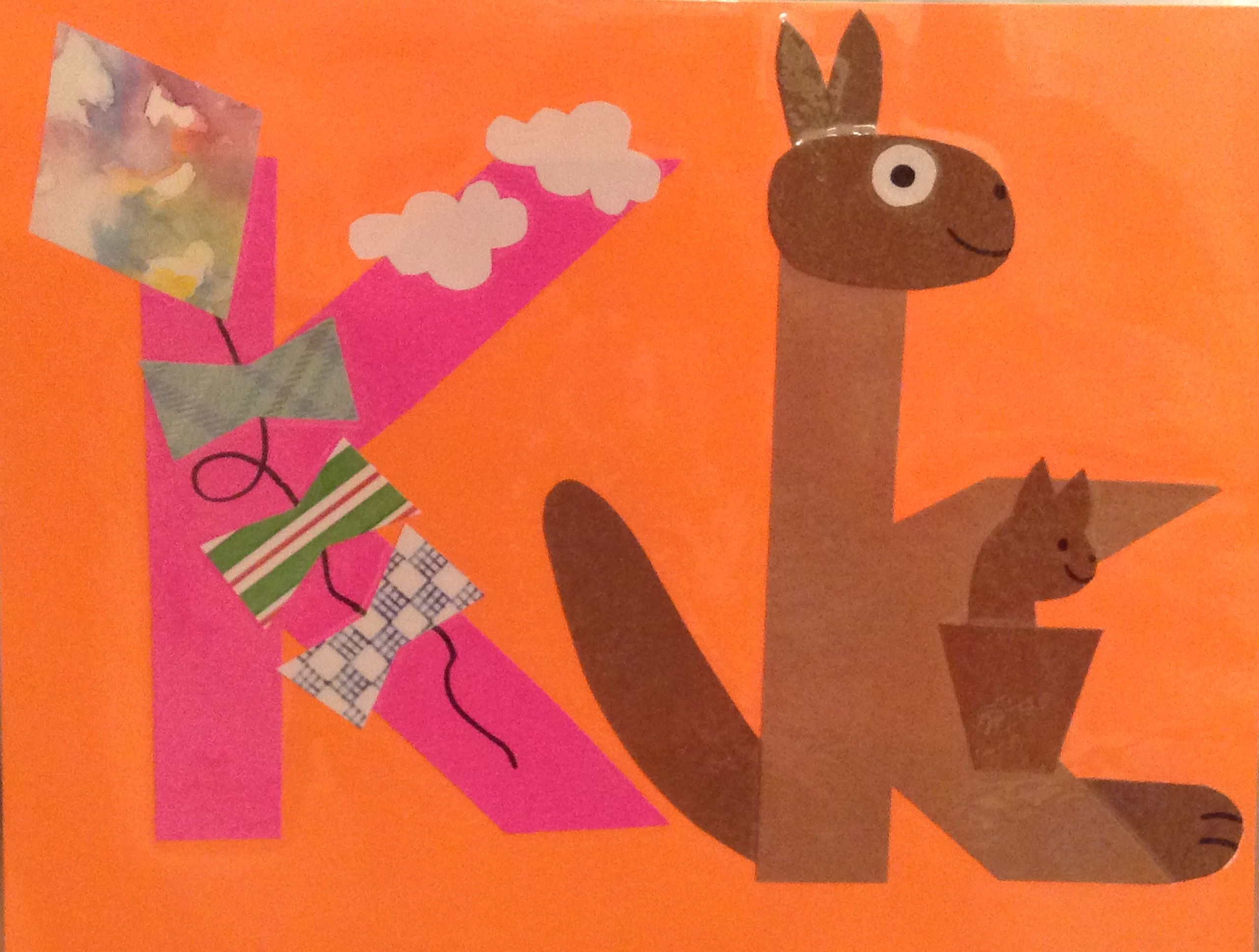K Is For Kite Amp Kangaroo With Images