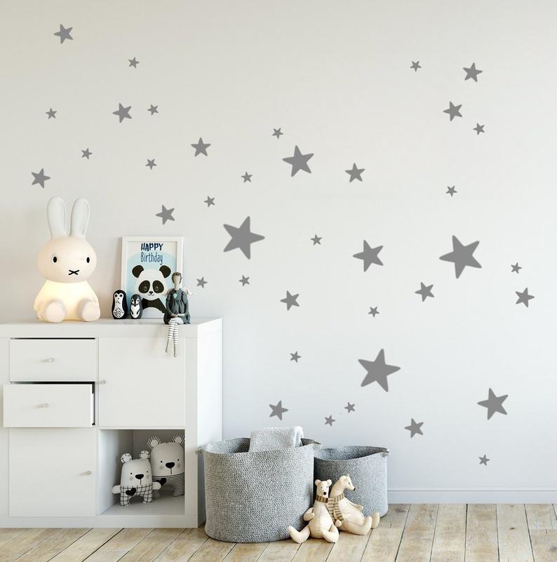 Wandsticker Sterne 38er Xl Mix Set Aus 25 10cm Grossen Etsy Star Wall Decals Kids Room Decals Kid Room Decor