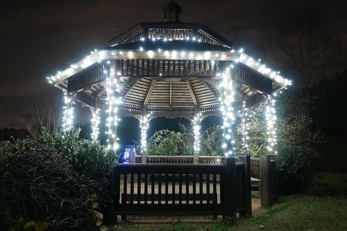 Mini Christmas Lights On Pergola For Wedding Lighting Pergolalightingideas