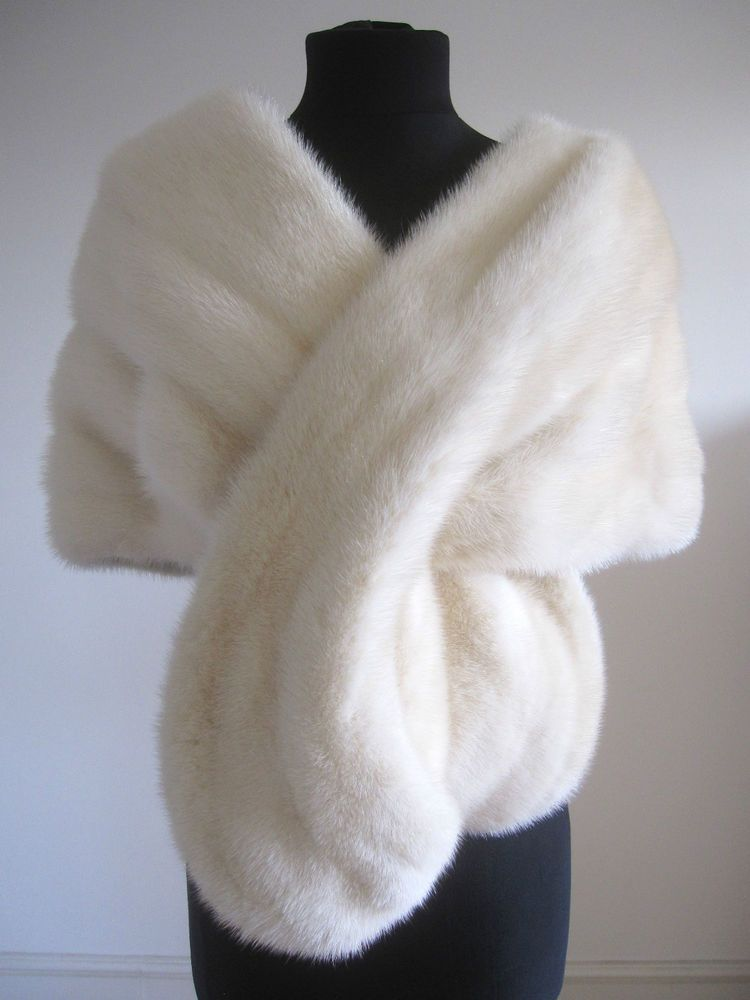 63bb73d88 Vintage white ivory mink stole available on eBay from 12th November