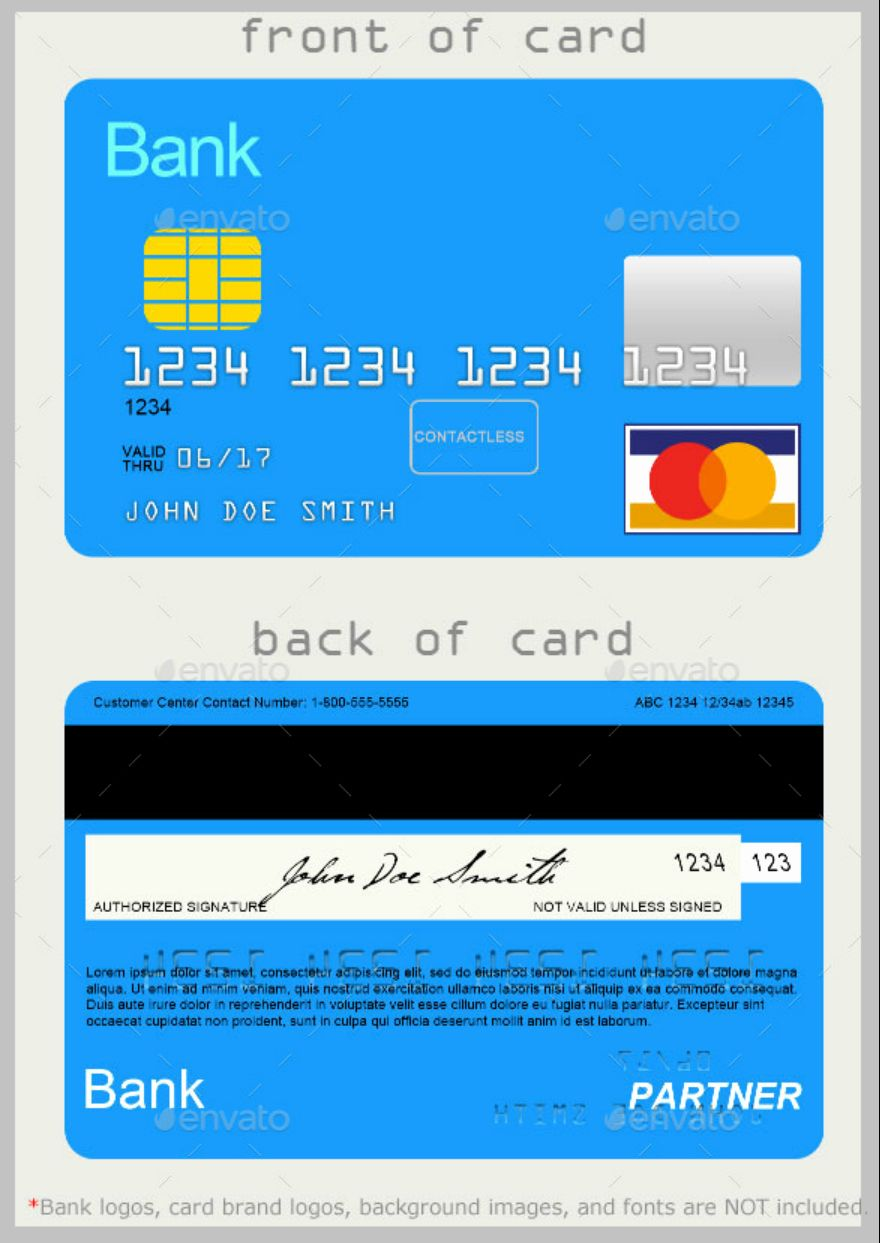 Blank Credit Card Template Unique 10 Credit Card Designs