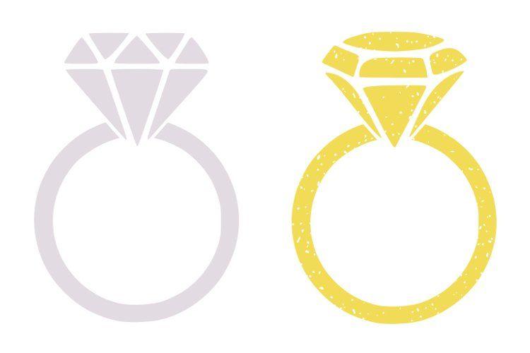 Diamond Silhouette cut file Love with ring svg Engagement svg- wedding svg Diamond Cricut cut file diamond ring svg