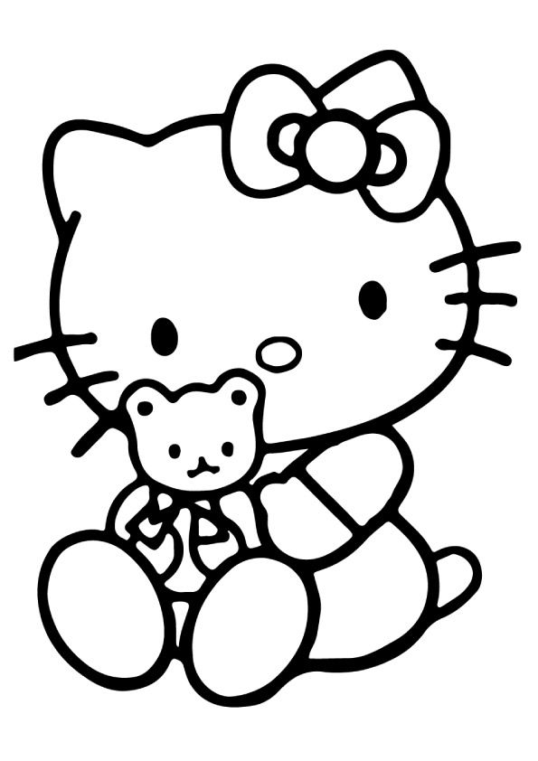 75 Cute Hello Kitty Coloring Pages Your Toddler Will Love Hello Kitty Printables Hello Kitty Art Hello Kitty Colouring Pages