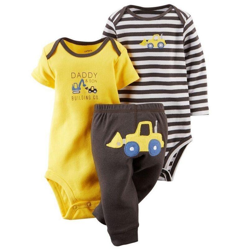 2017 Originale Del Bambino Delle Ragazze Dei Ragazzi Vestiti Set, conjuntos roupas de bebe Cotone Della Tuta 3 pz Pantaloni Abbigliamento