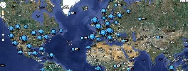 Yes! Une carte mondiale reprenant tous les lieux où l'on peut pratiquer un sport extrême!