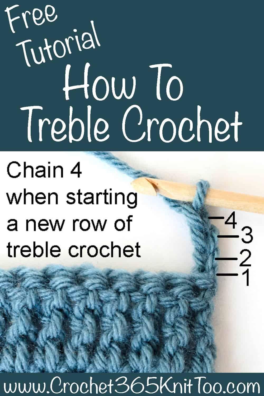How To Treble Crochet How To Treble Crochet Crochet Patterns Free Beginner Triple Crochet Stitch