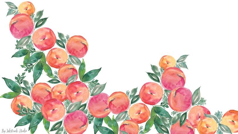 Download Free Watercolor Peach Wallpapers For Desktop Iphone And
