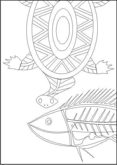the brave ant aboriginal art colouring in book httpmembersoptusnet - Colouring In Book