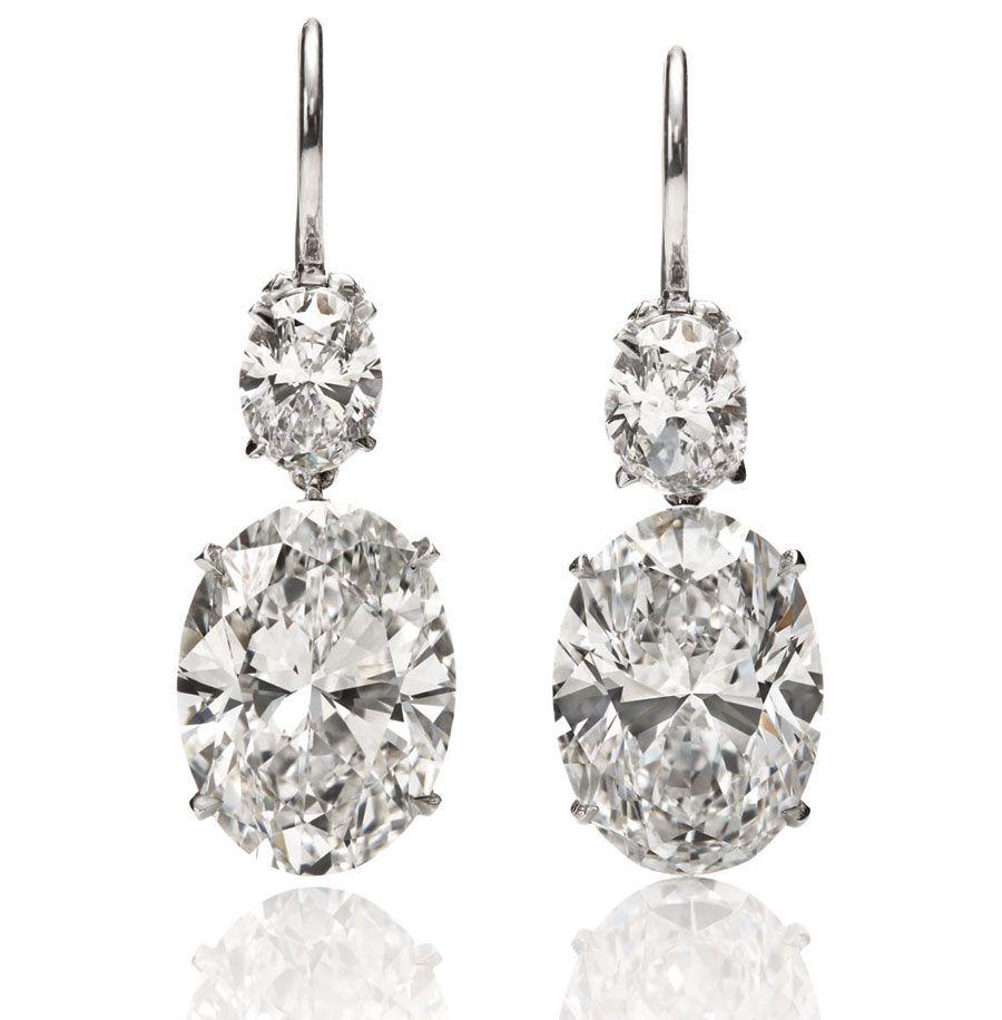 Harry Winston Diamond Oval Drop earrings