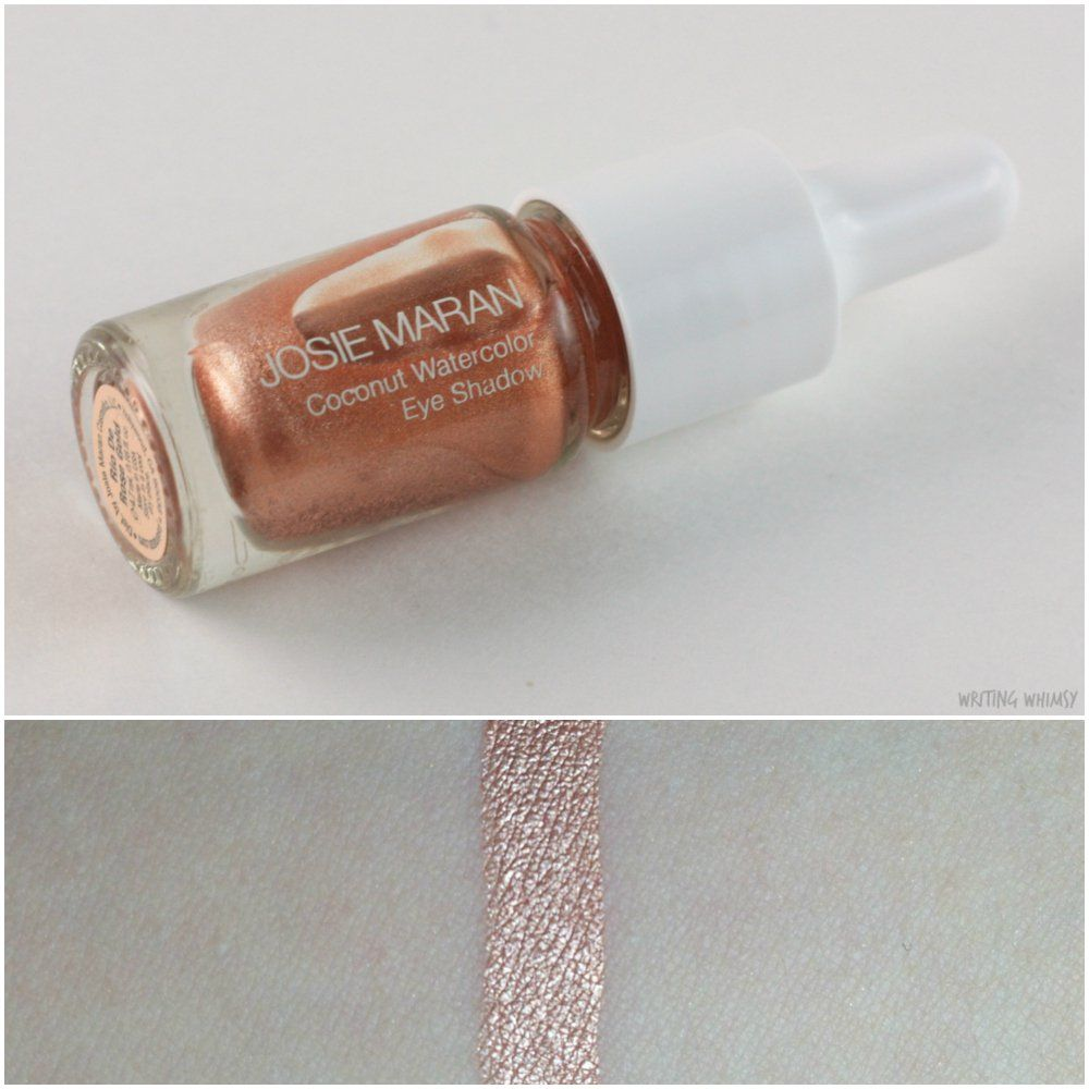 Josie Maran Coconut Watercolor Eyeshadow Rio De Rose Gold Josie
