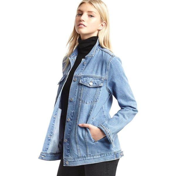 Gap Women 1969 Long Denim Jacket ($80) ❤ liked on Polyvore ...