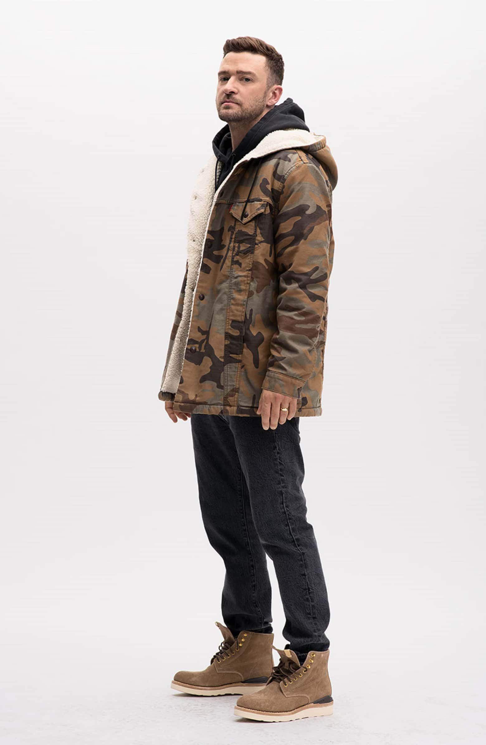 Levi's® x Justin Timberlake Faux Shearling Hooded Trucker