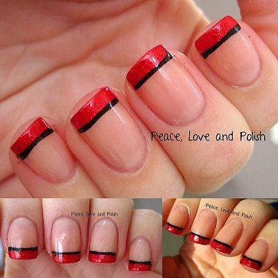 2 400×400  red tip nails nail tips nail designs
