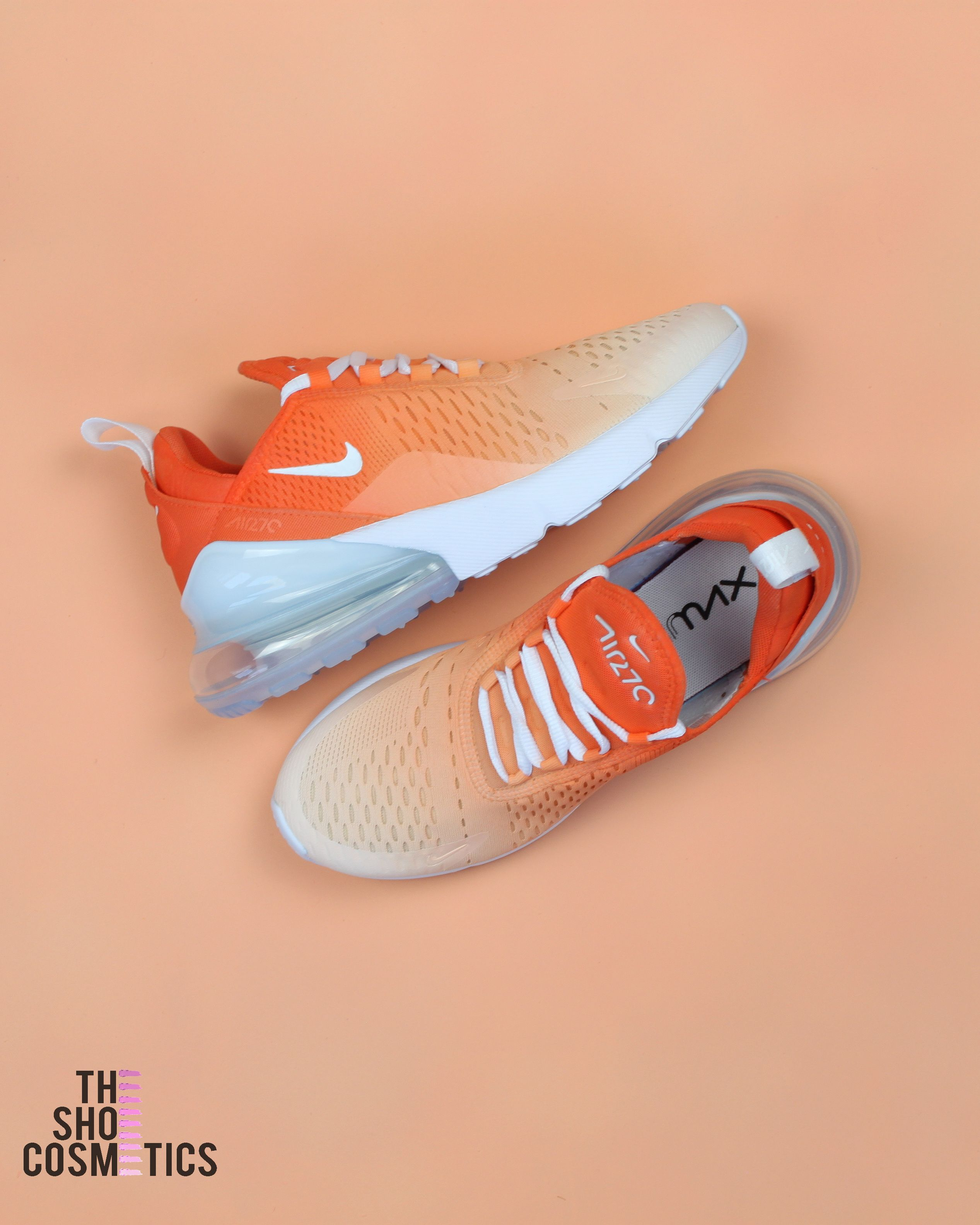 best sneakers 92a8b 3fdbd Looking for Air Max 270 s  Explore our Orange ombre custom air max  sneakers. If you love the orange sneakers then these Custom nike air max  are perfect for ...