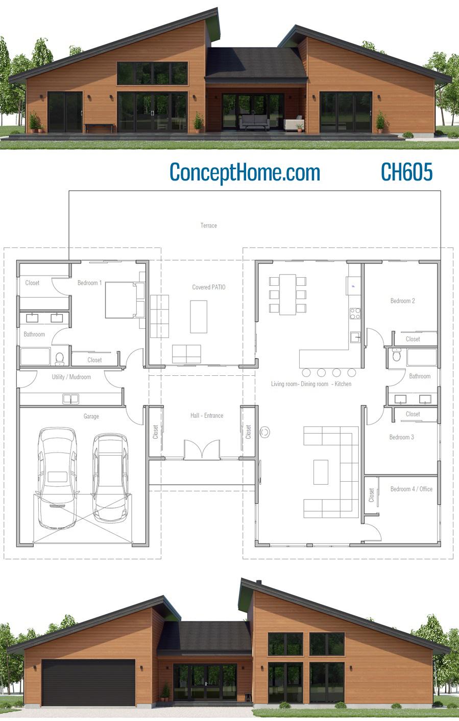 House Design Ch605 House Plan Gallery Farmhouse Style House Plans Affordable House Plans