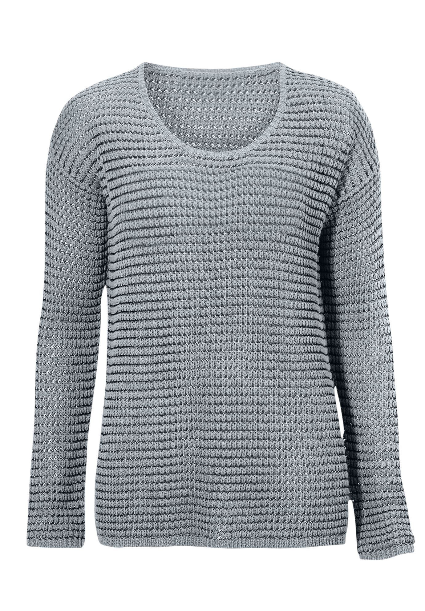 Chunky Knit Sweater By Ellos Womens Plus Size Clothing Products