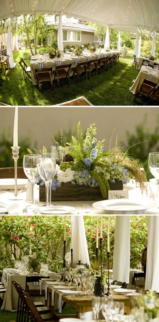 Elegant Backyard Wedding Reception backyard wedding | party on | pinterest | backyard, wedding and weddings
