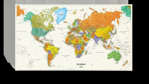 Verwonderend Bestellen - wereldkaart kiezen - Herinneringen op Linnen | Wereldkaart DN-14