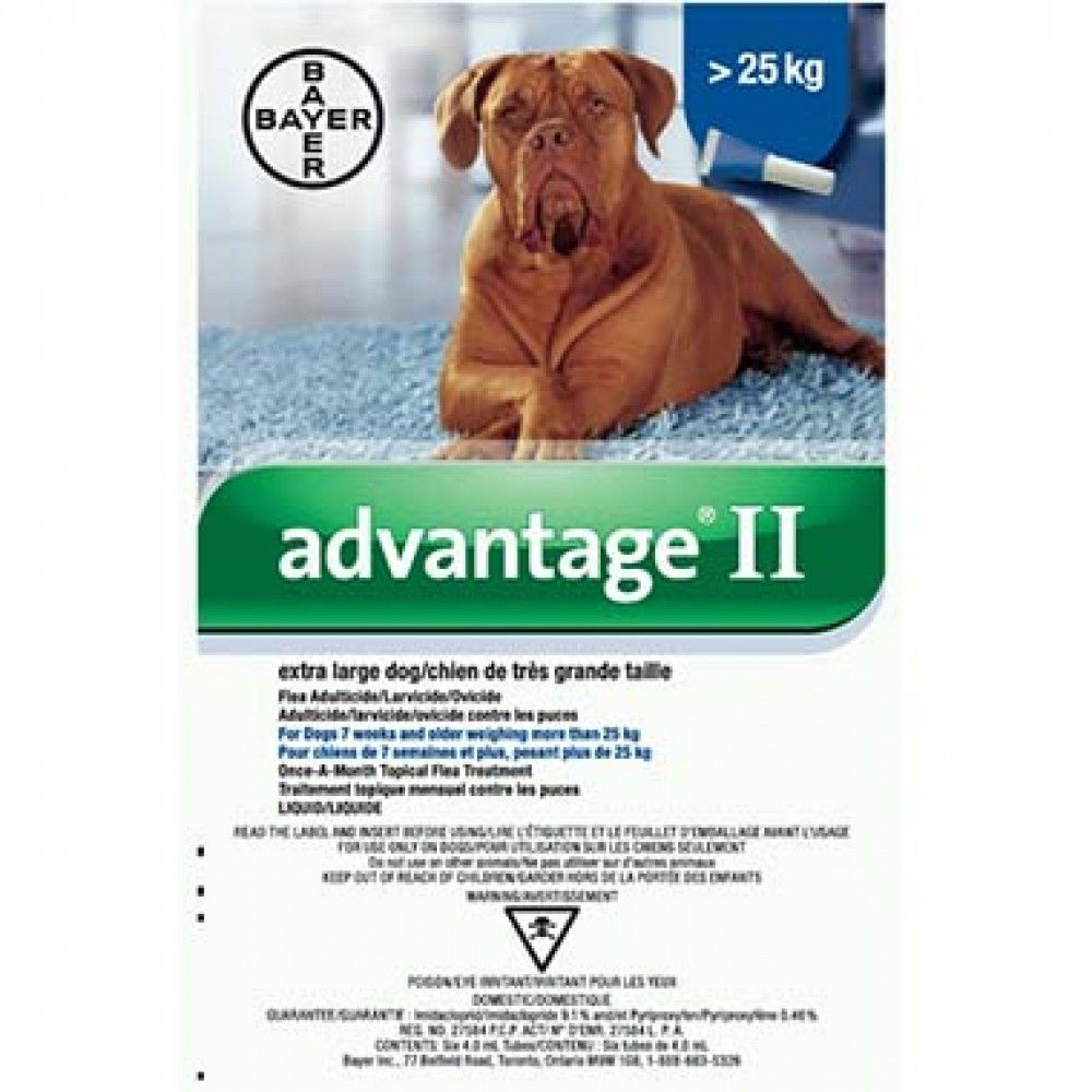 Advantage ii canine x large 4x40ml photo flea