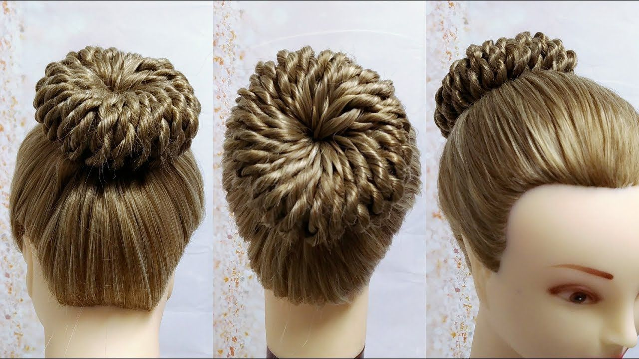 Miradas ganadoras con peinados con moños Fotos de consejos de color de pelo - Peinados con Moños / Rope Twisted Pinwheel Bun /Prom ...