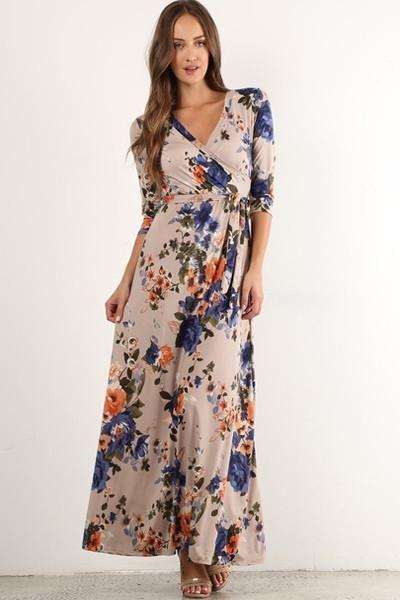 Ivory rose maxi dress