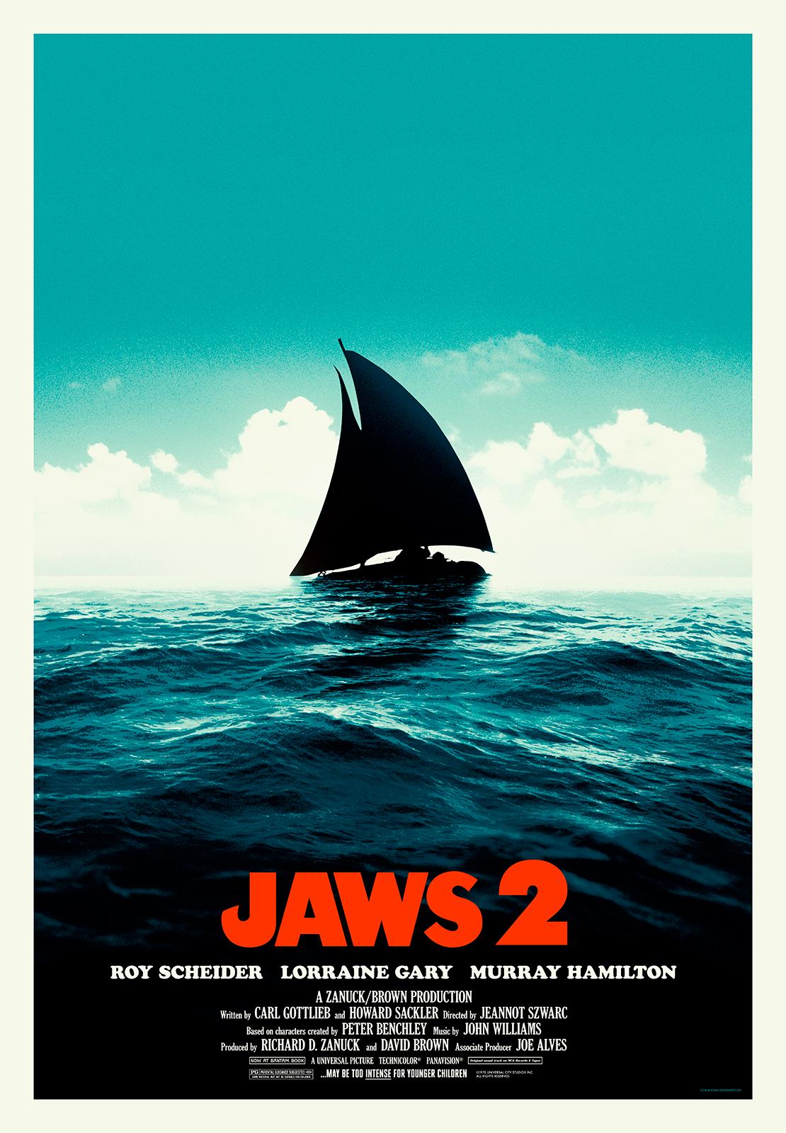 Jaws 2 1978 1110x1600 Oc Horror Movie Art Print Jaws 2 Jaws Film