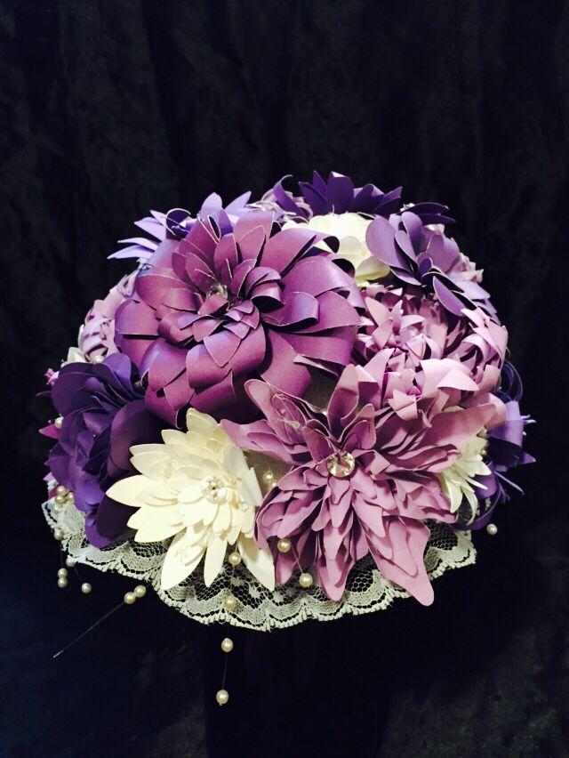 My first handmade flower bridal bouquet