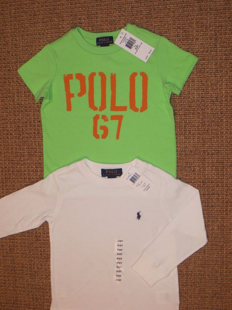 4fa9bd828 POLO RALPH LAUREN TODDLER BOY T SHIRTS 2 2T TOPS SET OF 2 COTTON NEW  #PoloRalphLauren