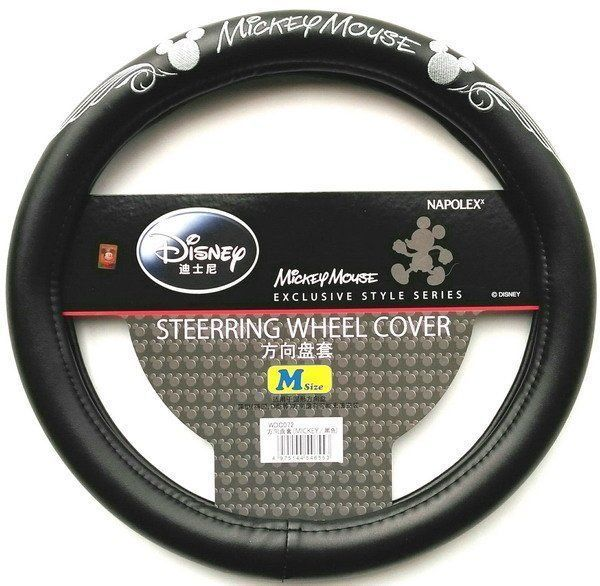 NEW NAPOLEX Disney Mickey Mouse Car Steering Wheel Cover Black #Mickeymouse $28.89