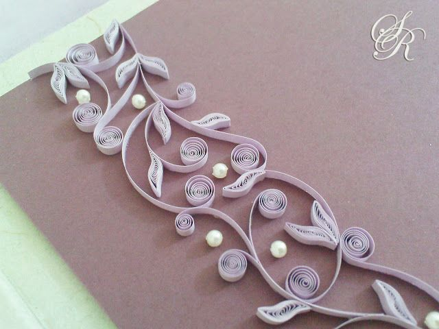 Paper Quilling Book Cover : This would be stunning on a journal cover paper