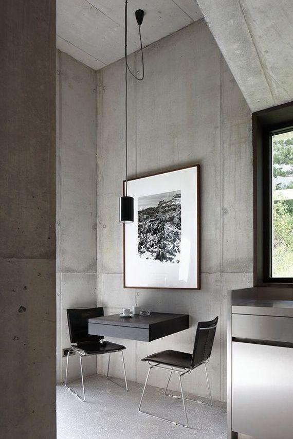 Ambientes de estilo minimalista paredes de cemento Pinterest - paredes de cemento