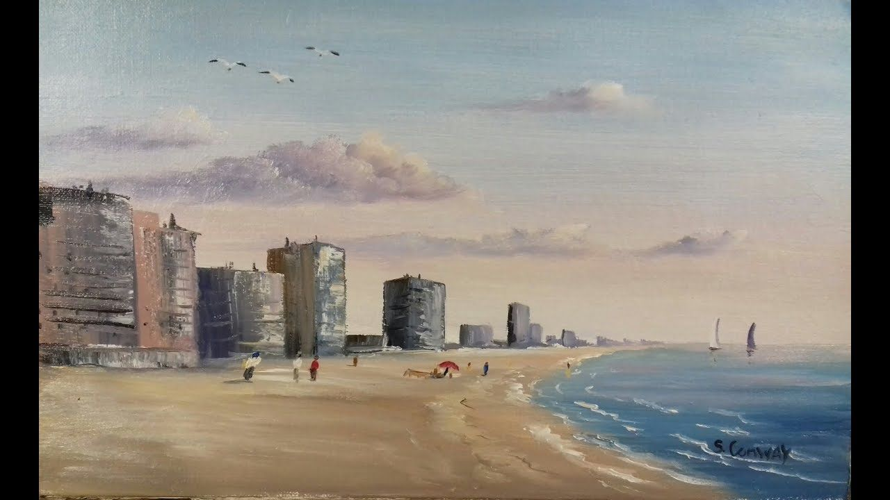 Gulf Coast Beach And Wall Art Oil Painting By Stephen Conway