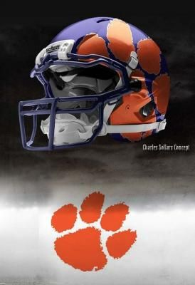 brand new 15657 a49e8 Clemson Tigers Nike Pro Combat Concept Helmet | Concept ...
