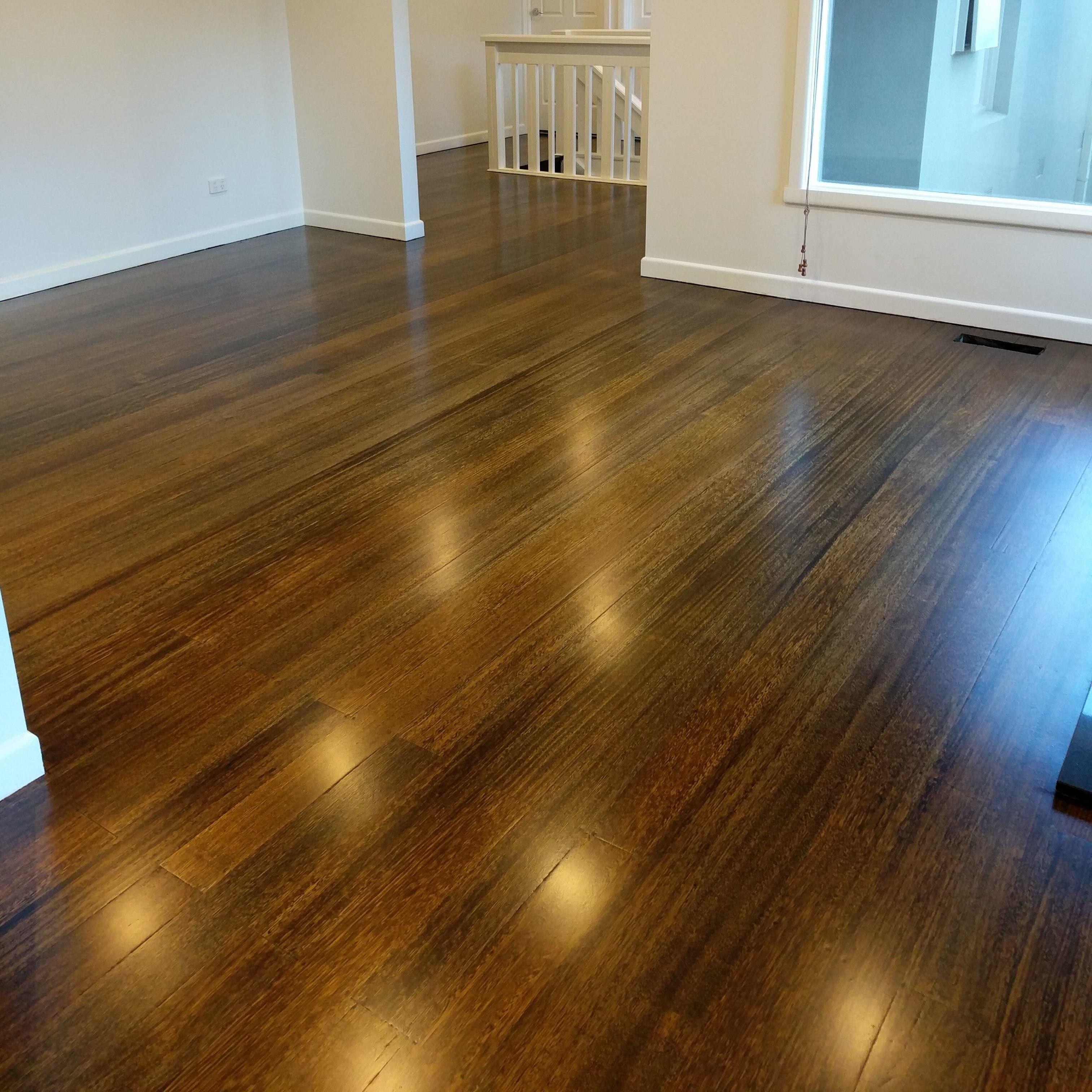 Teak Stain On A Tasmanian Oak Floor In Doncaster Vic Fudgeflat Flooring Oak Hardwood Flooring Timber Flooring