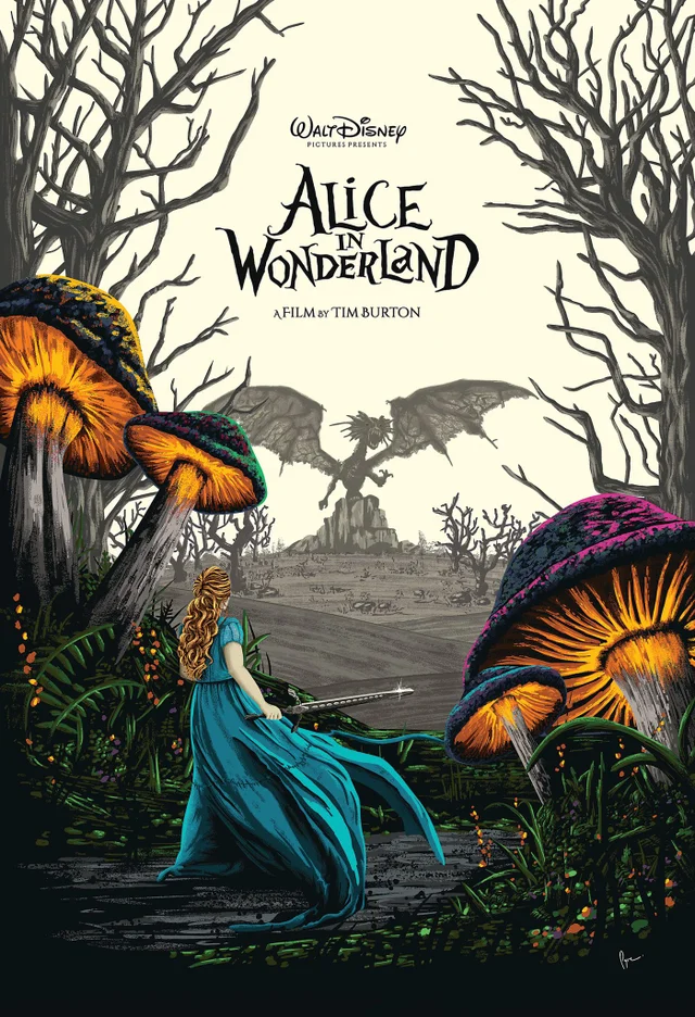 Alice In Wonderland (2010) [1400 × 2408] by Derek Payne
