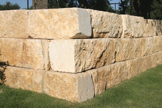 These Are The Stones That Our Builder Is Using For The Retaining Wall In 2020 Sandstone Wall Limestone Wall Stone Exterior Houses