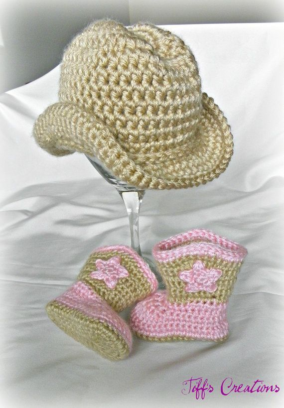 Baby cowboy cowgirl gift set cowboy hat and by creationsbytiff ...