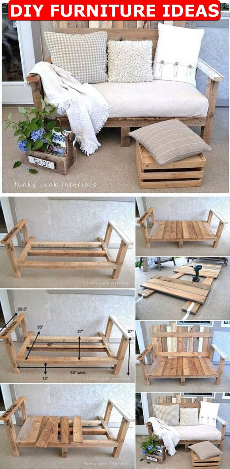 40 Diy Furniture Ideas For A Better Home How To Make Diy Inspirations Diy Furniture Easy Diy Pallet Sofa Living Room Furniture Chairs