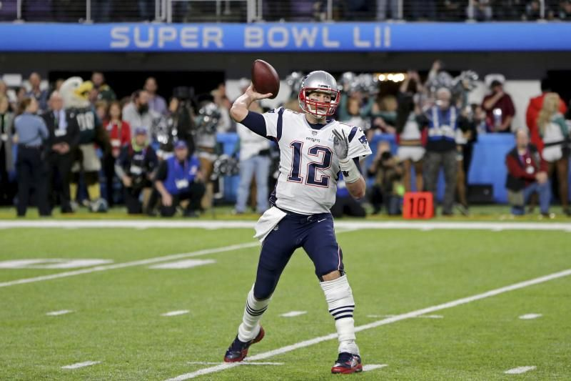 5de0e92af51 New England Patriots quarterback Tom Brady in action against the  Philadelphia Eagles at Super Bowl 52 on Sunday, February 4, 2018 in  Minneapolis.