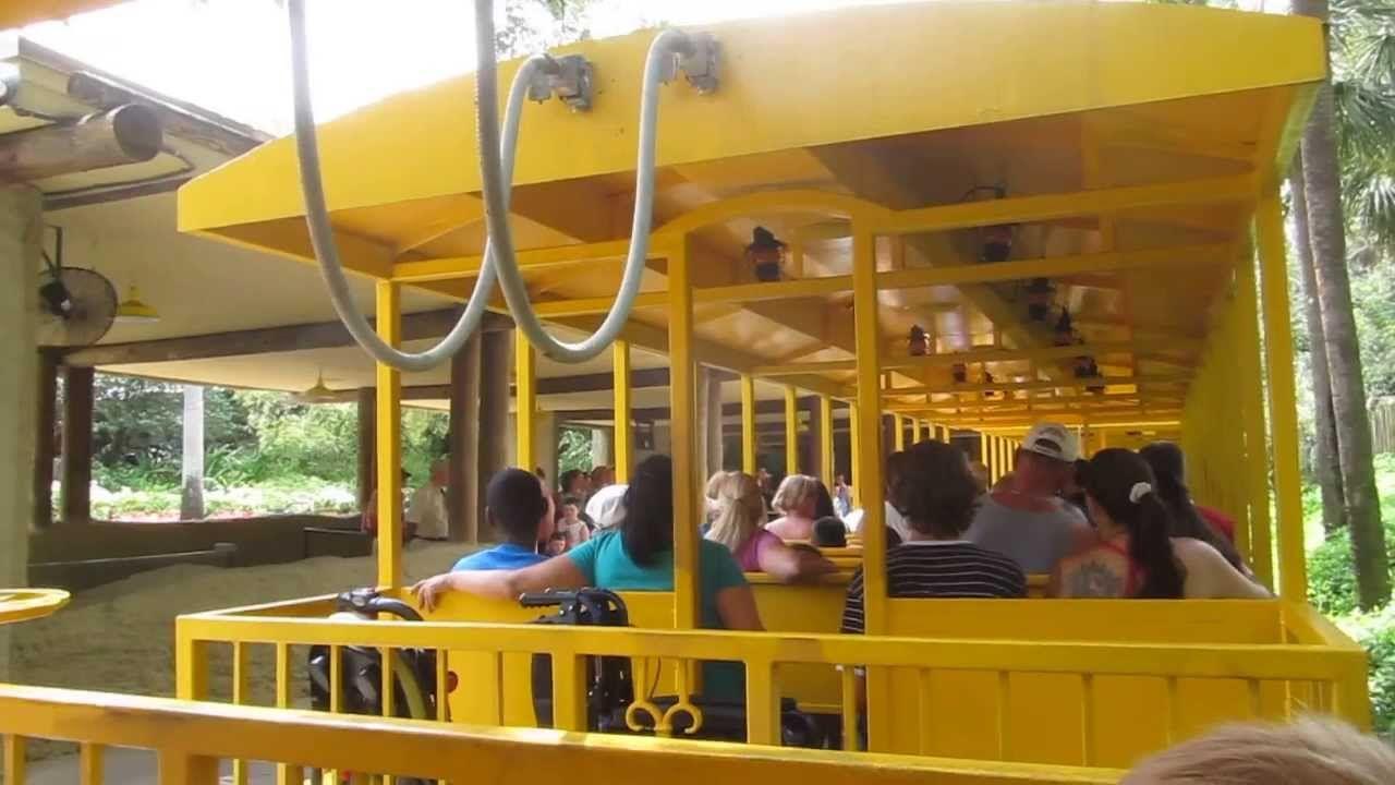 Serengeti railway ride around Busch Gardens, Tampa, Florida | POV ...