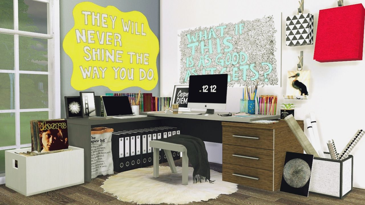 MXIMS Office 5 Corner Workspace Sims 4 Updates