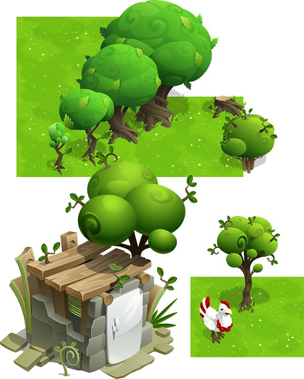 House in the forest on Behance Game Design Pinterest House and