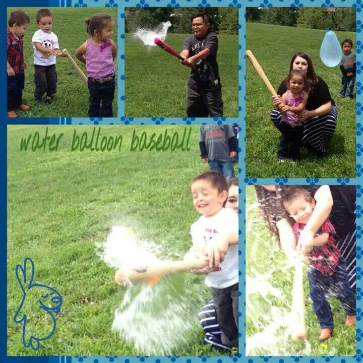 Waterballon Baseball Birthday Party Game..