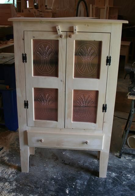 Wood Primitive Pie Safe Unfinished Wood Pie Safe Out